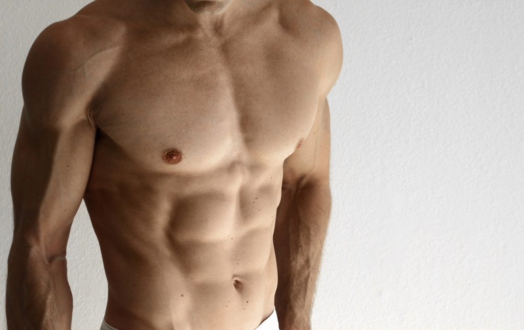hot man with six pack