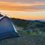 tent on top of mountain