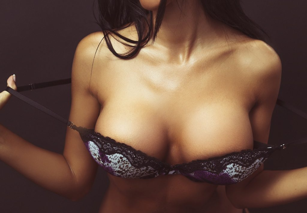 woman in sexy bra