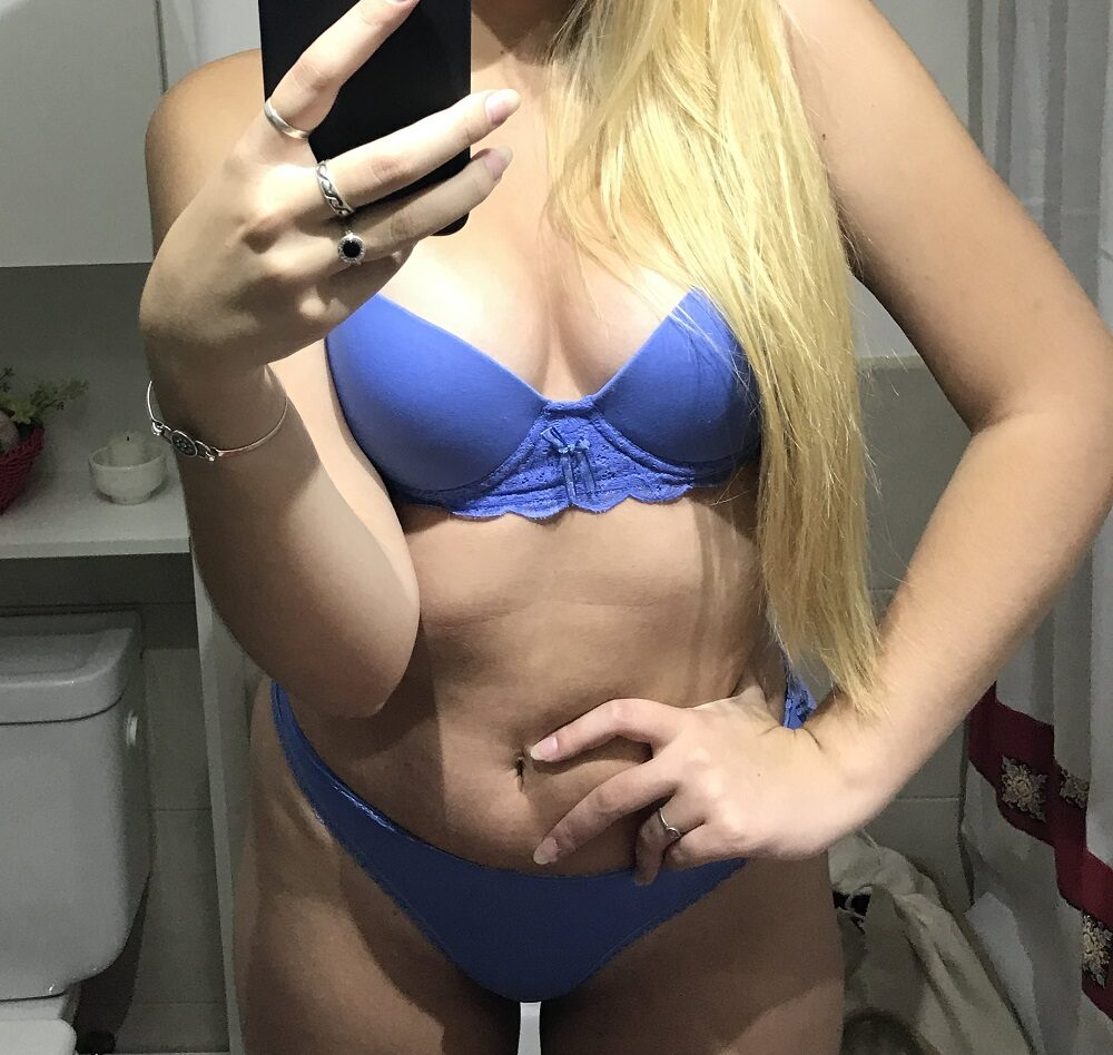 sugar momma taking selfie in lingerie