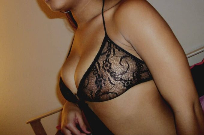 woman in sheer lingerie