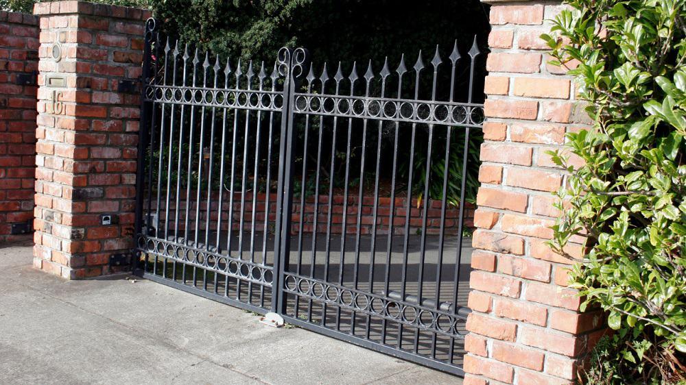 gates to a house